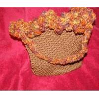 China Bags And Purses Crocheted Brown Purse on sale