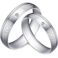 Quality Gold COI Titanium You and Me Ring - JT2810 for sale