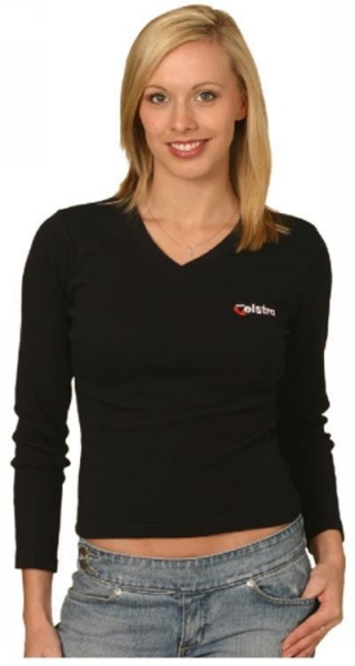 Buy V-Neck Long Sleeve Zhongyi Tee at wholesale prices
