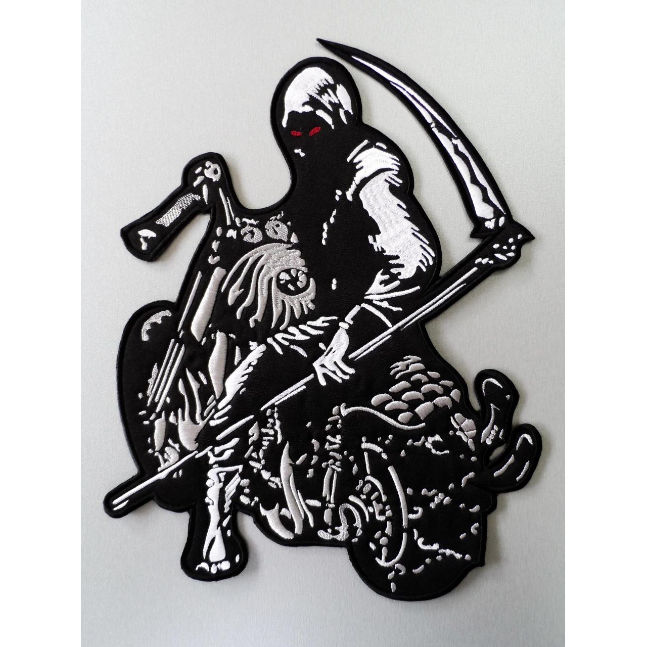 China Embroidered Biker Grim Reaper Back Patch on sale