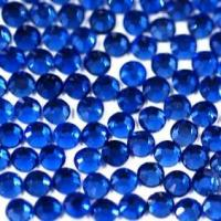 Quality Gemstone,DIY accessories,rhinestone,flat base and faceted top,dark blue,SS16,sold per pkg of 300pcs for sale