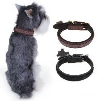 China Chiwava Luxury Leather Pet Collar on sale