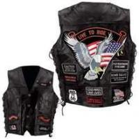 Buy cheap Diamond Plate Rock Design Genuine Buffalo Leather Vest from wholesalers