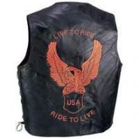 Buy cheap Diamond Plate TM Genuine Leather Motorcycle Vest from wholesalers
