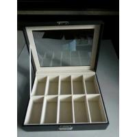 PU leather sets Black Lacquer Luxury 8 Slot Wooden Watch Box