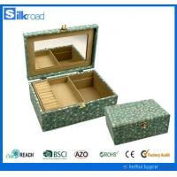 PU leather sets Farbic jewelry box for sale