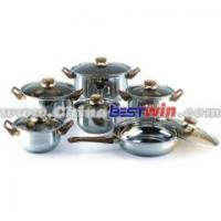 Buy cheap AS SEEN ON TV 12 pcs Stainless Steel Cookware Set stock Cooking Pot Stock Pot from wholesalers