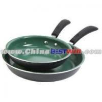 Buy cheap AS SEEN ON TV Aluminum Ceramic Orgennic Cookware Non-stick Fry Pan Green from wholesalers