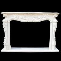Stone Carving nature marble fireplace mantel
