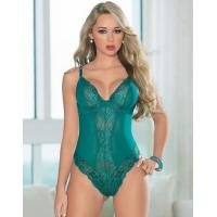 China Terrific Teal Sexy Lace Teddy on sale