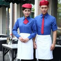 Buy cheap solid contrast color Hotel restaurant work wear uniform,autumn long sleeve shirts from wholesalers