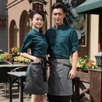 Buy cheap Thailand vintage half sleeve waiter waitress shirts and apron from wholesalers