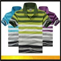 Quality Polo shirts Men's stripe cotton polo tshirt for sale