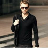 China Men's Retro Pullover Shirt Collar Sweater Knitted Sweater on sale