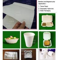 Quality Grade A bleached and bleached bamboo and bagasse pulp for high-end molded pulp production for sale