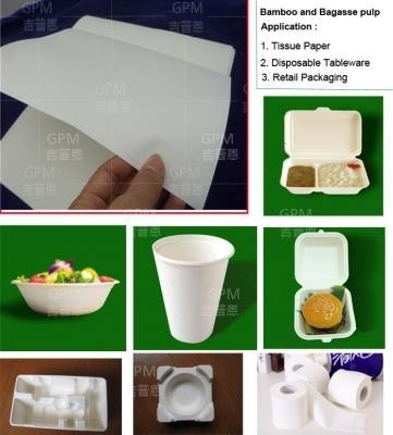 Buy Grade A bleached and bleached bamboo and bagasse pulp for high-end molded pulp production at wholesale prices