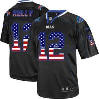 Quality Nike Bills #12 Jim Kelly Black Men