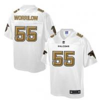 China Nike Falcons #55 Paul Worrilow White Men's NFL Pro Line Fashion Game Jersey on sale