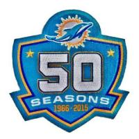 China Stitched Miami Dolphins 1966-2015 50th Seasons Jersey Patch on sale