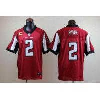 Buy cheap Nike Falcons #2 Matt Ryan Red Team Color With C Patch Men's Stitched NFL Elite Jersey from wholesalers