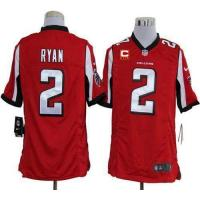 Buy cheap Nike Falcons #2 Matt Ryan Red Team Color With C Patch Men's Stitched NFL Game Jersey from wholesalers