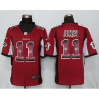 Buy cheap Nike Falcons #11 Julio Jones Red Team Color Men's Stitched NFL Limited Strobe Jersey from wholesalers