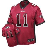 Buy cheap Nike Falcons #11 Julio Jones Red Team Color Men's Stitched NFL Elite Drift Fashion Jersey from wholesalers