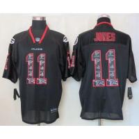 Quality Nike Falcons #11 Julio Jones New Lights Out Black Men