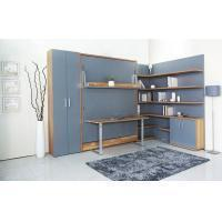 MDF With Melamine Modern Wall Bed With Bookshelf And Table For Home And Hotel