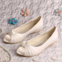 Quality Wedopus Customized Heel and Color Ballet flat Wedding Shoes for sale