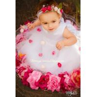 Quality Baby Satin and Roses Flower Girl Dress for sale