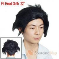 Quality Men Halloween Costume Cosplay Black Straight Hair Wig Halloween Gifts & Items for sale