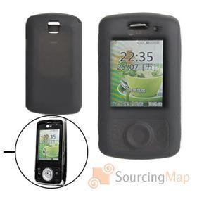 China Black Protective Silicone Skin for LG KT520 Silicone Skins