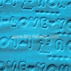 China New style polyester clipped flannel fabric supplier