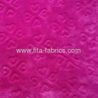 Quality Soft embossingor solid color flannel fabric for blanket for sale