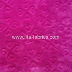 China Soft embossingor solid color flannel fabric for blanket
