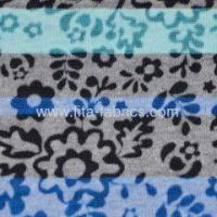 Quality T/C burn out knitted fabric with printing very light weight for sale