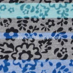 China T/C burn out knitted fabric with printing very light weight
