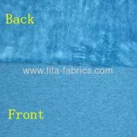 Quality Poly spun velour for garment fabric for sale