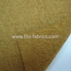 China Fleece of knitted fabric blended of cotton and wool
