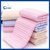 China Pure Cotton Yarn Dyed Corn Grid Shape jacquard Towel face towel supplier on sale