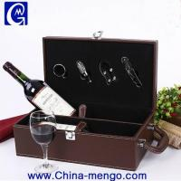 PU Leather Single Wine Bottle Gift Box with accessories Wholesale