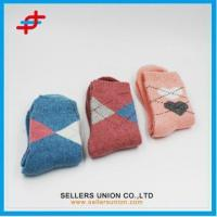 China Polyester Woll Warm Color Terry socks on sale