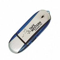 Buy cheap Plastic Cusotm-imprinted USB Flash Drives Streamline Oval product