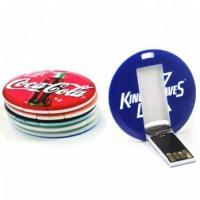 Buy cheap Round Card USB Flash Drive Circle Shape Card USB Memory Disk from wholesalers
