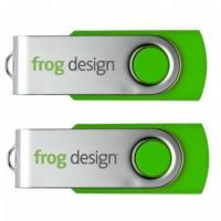 Buy cheap Lime Green USB Flash Drive Swivel Twister USB Stick Logo Printed from wholesalers