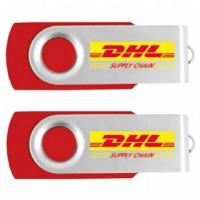 Buy cheap Red Usb Flash Disk Promotional Thumb Drive Custom Logo from wholesalers