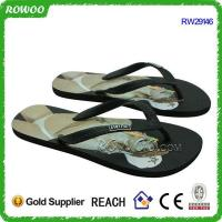 Buy cheap Comfortable Brand clothing matching men Rubber beach flip flops(RW29146) from wholesalers