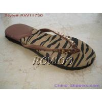 Buy cheap Printing Insole Flat Slipper RW11730 from wholesalers