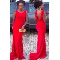 Buy cheap Simple Red Cheap Sleeveless Prom Dress New Arrival Open Back 2016 Evening GownItem Code: BO9121 from wholesalers